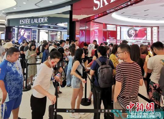 三亚国际免税城国庆迎来大批客流。 免税店供图 摄