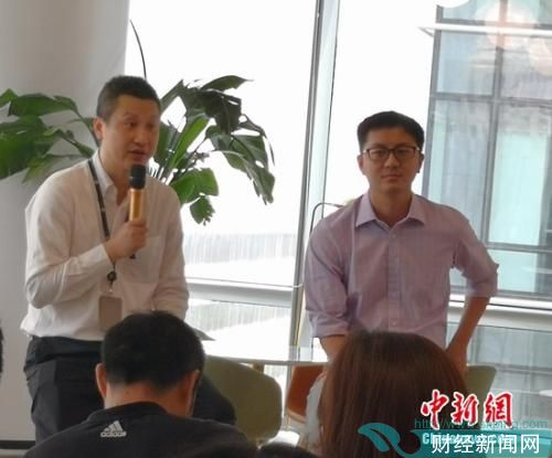 氪空间董事长刘成城(右)氪空间CEO王雪泉(左)