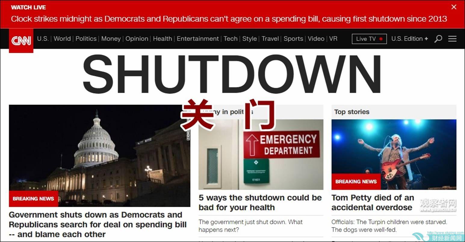 """特朗普的""""大礼"""":政府""""关门"""" 市场真的会变天?"""