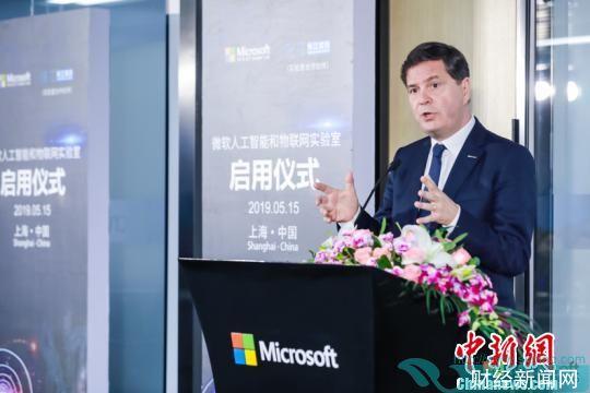 微软全球资深副总裁、大中华区董事长兼首席执行官柯睿杰。微软 供图