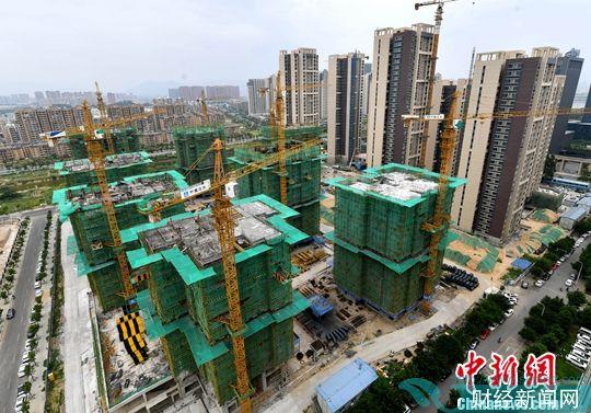 图为福州一处在建楼盘(资料图片)。中新社记者 吕明 摄